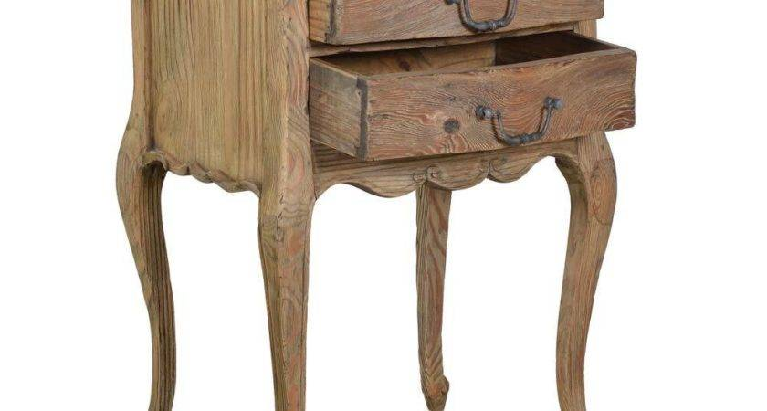 Chateauneuf Rustic Bedside Table