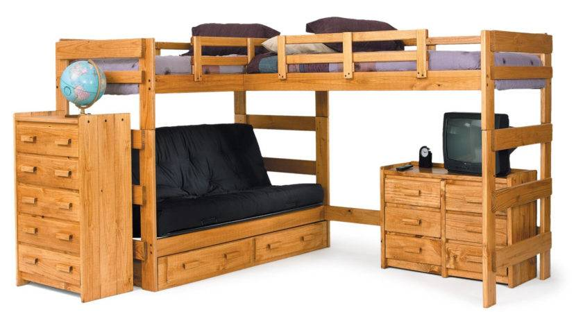 Chelsea Home Shaped Bunk Bed Customizable Bedroom Set
