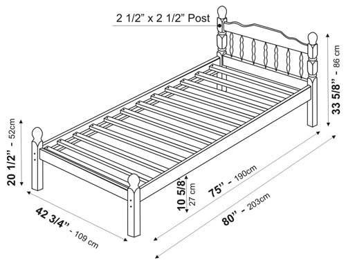 Chester Platform Bed Twin Palace Imports