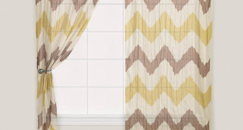 Chevron Crinkle Voile Curtain World Market