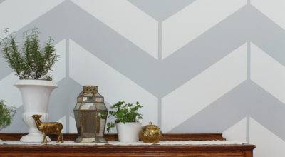 Chevron Herringbone Accent Wall Olde Century Colors