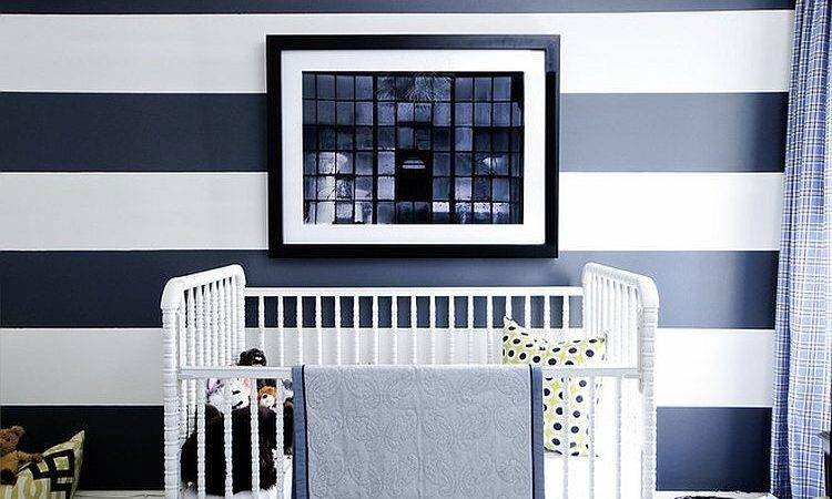 Chic Nursery Ideas Those Adore Striped Walls