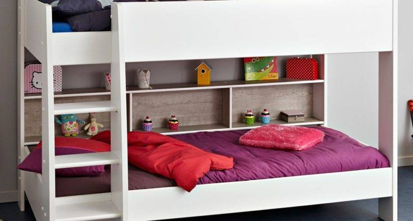 Childrens Bunk Bed White Grey Tam Beds