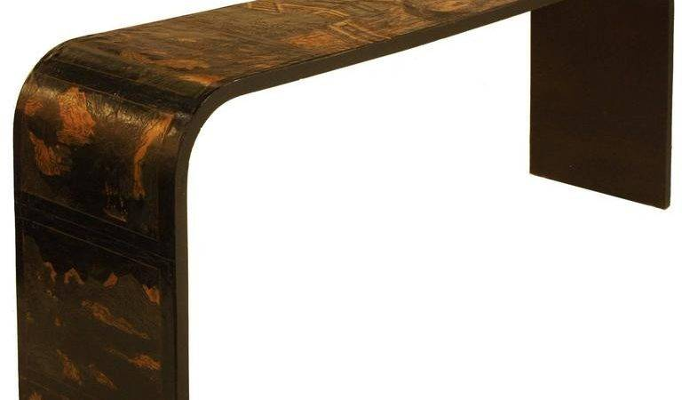 Chinese Coromandel Panel Waterfall Console Table Sale