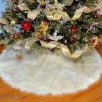 Christmas Decor Luxury Faux Fur Round Shape Tree Skirt