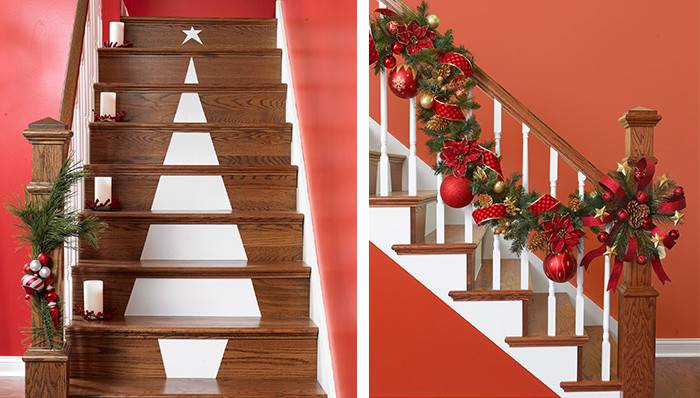 Christmas Tree Stair Decoration