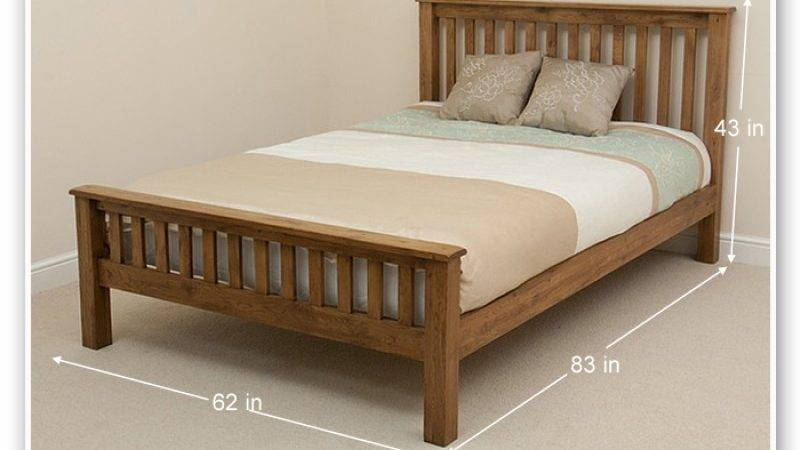 Cinnamon Queen Bed Slatted Head Foot Rest