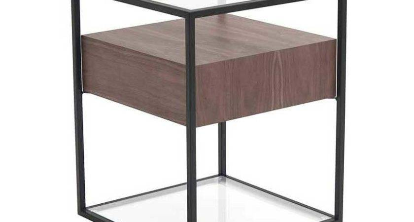 Claro Contemporary Side Table Walnut Moe Home