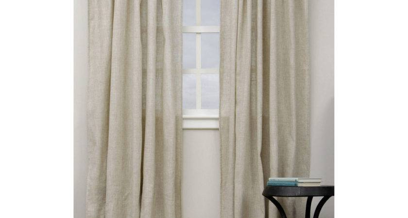 Classic Linen Blend Inch Curtain Panel Ebay