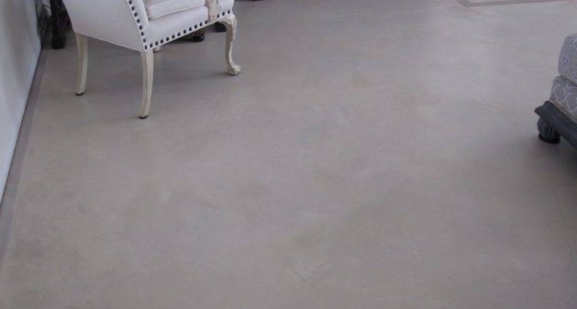 Classic White Painted Concrete Floors Slippery Ideas