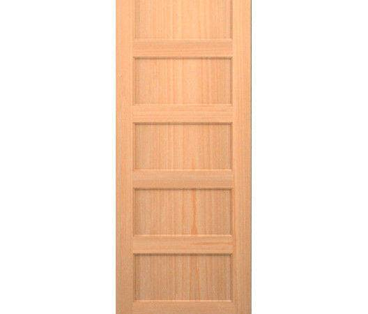 Clear Pine Panel Flat Mission Shaker Staingrade Solid