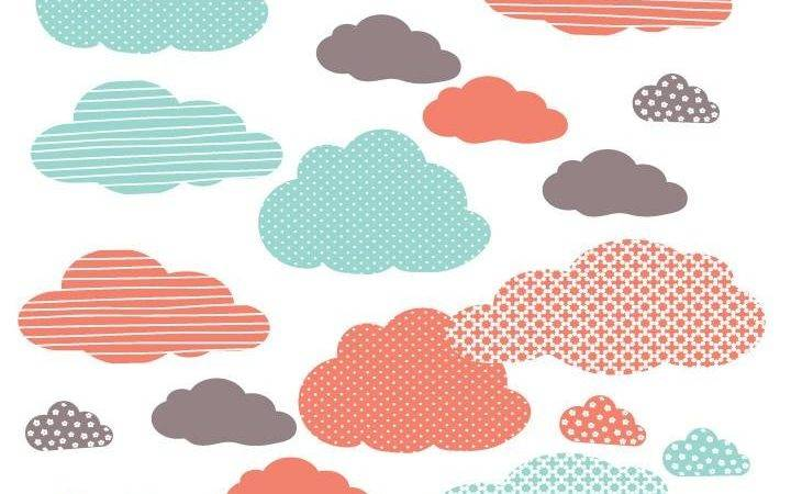 Cloud Fabric Wall Decals Eco