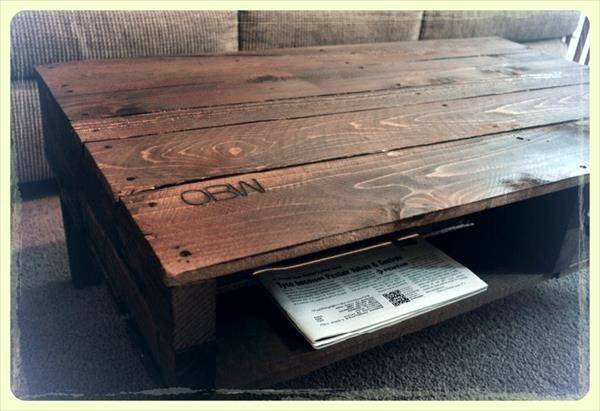 Coffee Table Reclaimed Pallets Pallet Furniture Plans