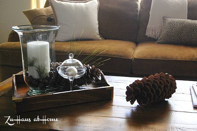 Coffee Table Tray Decor Rustic