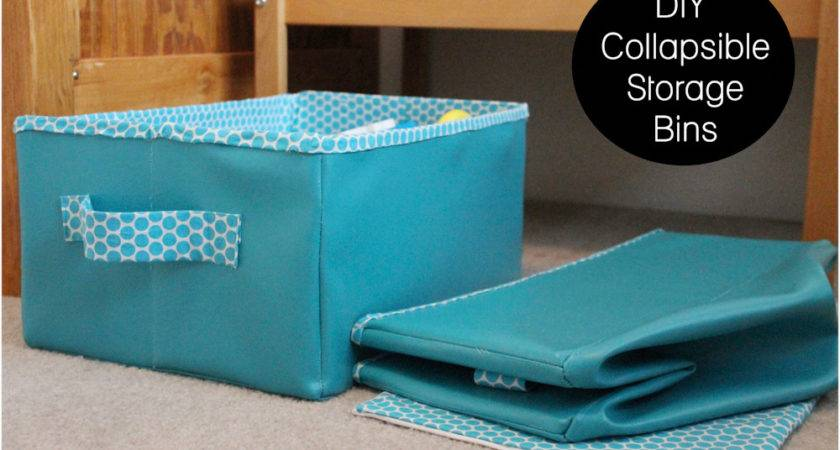 Collapsible Storage Bins Tutorial Peek Boo Pages Sew