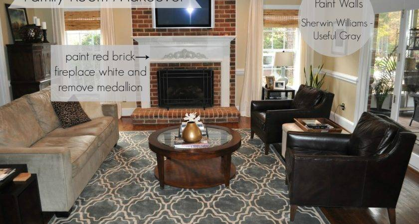 Collected Interior Painted Brick Fireplace