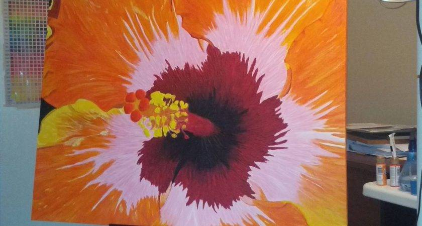 Collection Abstract Flower Paintings