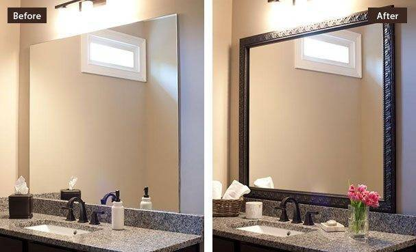 Collection Frames Bathroom Wall Mirrors