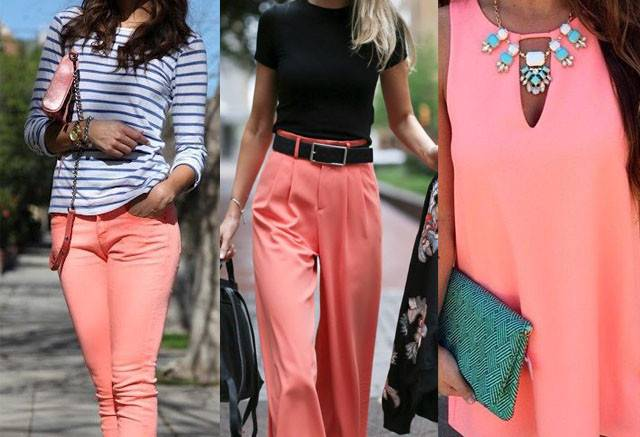 Colors Coral Pink Clothes Outfit Ideas