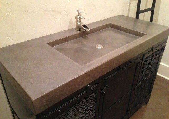 Concrete Counter Tops Contemporary Vanity