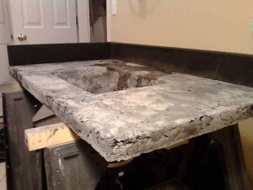 Concrete Countertop Series Molds Removed Top Surface