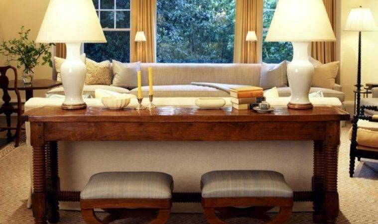 Console Table Behind Sofa Inspiration Styling