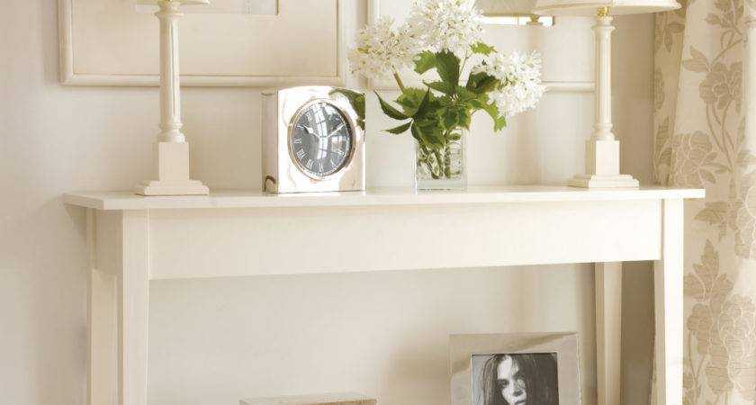 Console Table Decor Ideas Comes White Wooden Frames