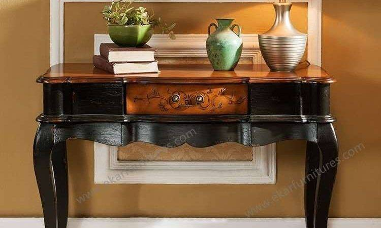 Console Table Rustic Pine Hallway
