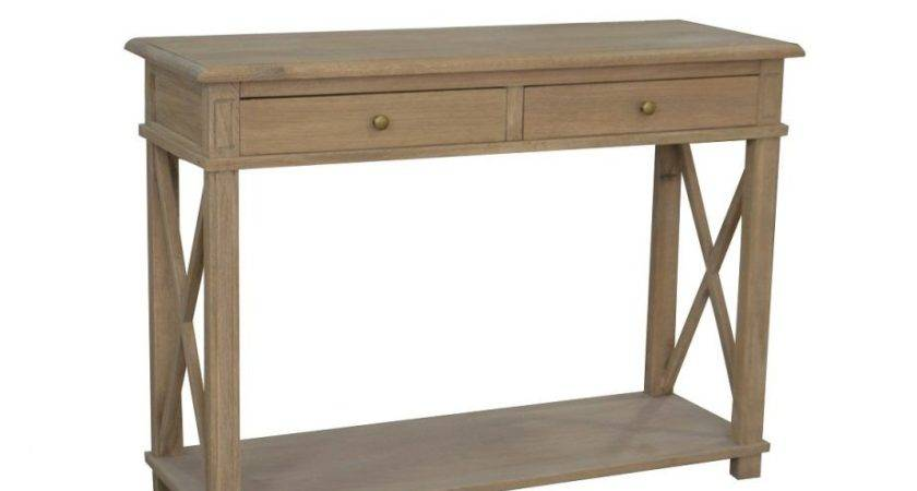Console Table Weathered Oak Small Provincial Furniture