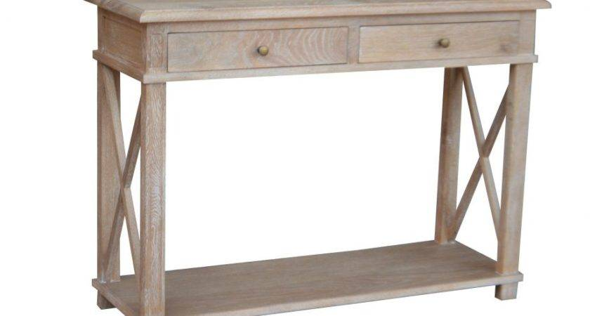 Console Table White Washed Oak Small Provincial
