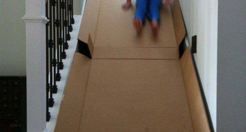 Contemplative Creative Cardboard Slide
