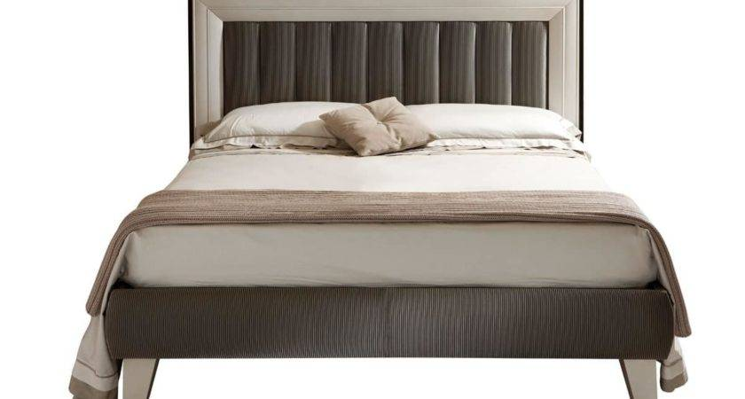 Contemporary Double Bed Padded Headboard Frame