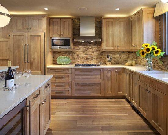 Contemporary Hickory Kitchen Cabinets Ideas