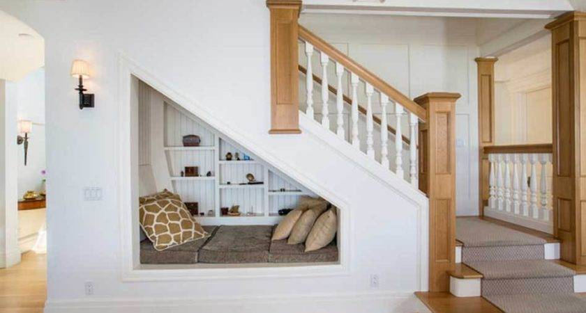 Contemporary Under Stairs Dog House