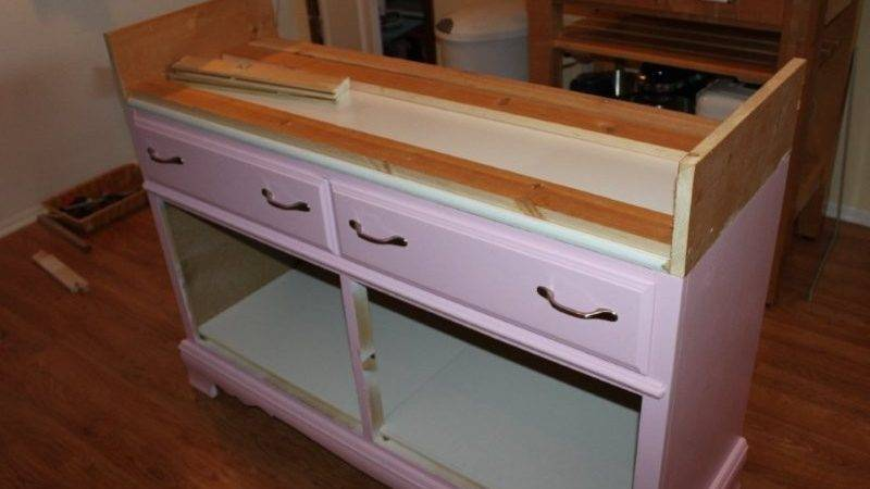 Converting Dresser Into Kitchen Island Part Mike