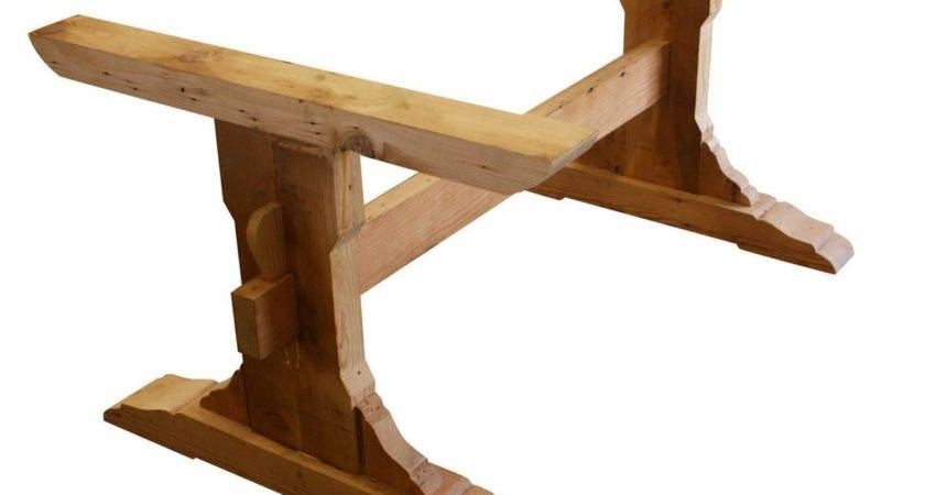 Cool Reclaimed Wood Trestle Dining Table All House
