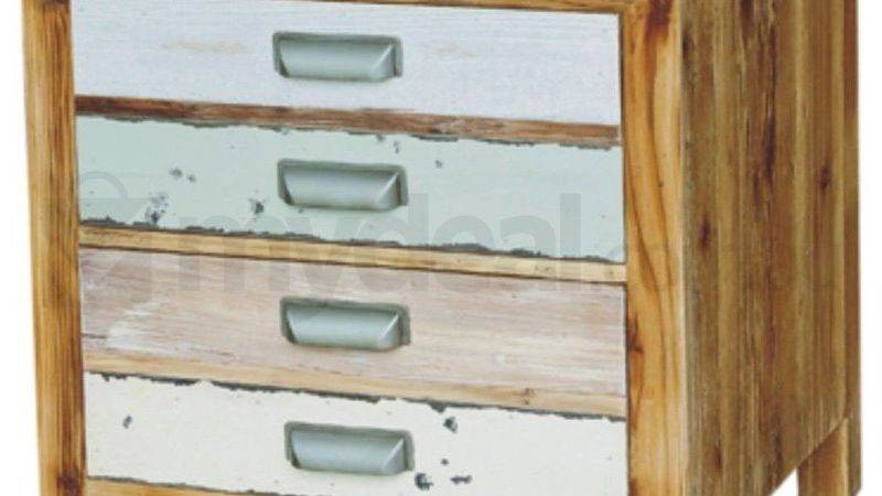 Coral Rustic Bedside Table Drawers Reclaimed Buy