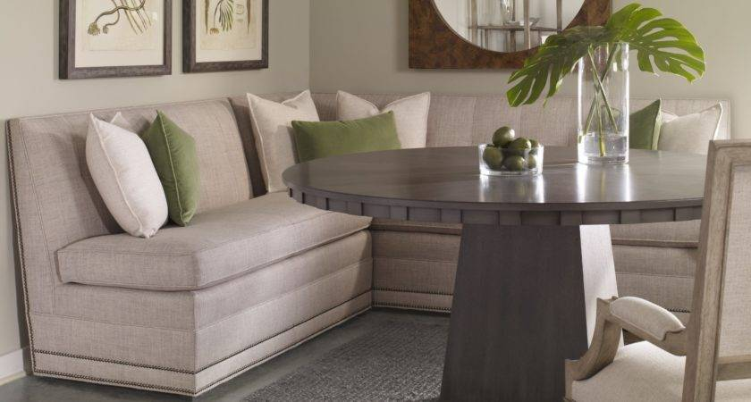 Corner Banquette Dining Sets Classy Fabric