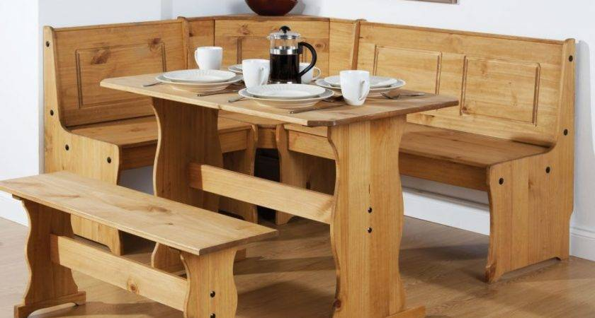 Corner Bench Dining Table Set Concept
