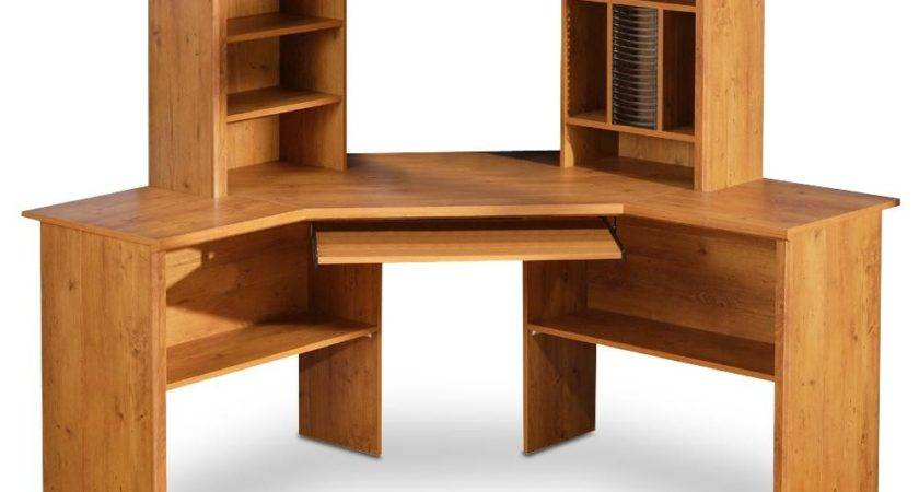 Corner Desk Shelves Design Homesfeed