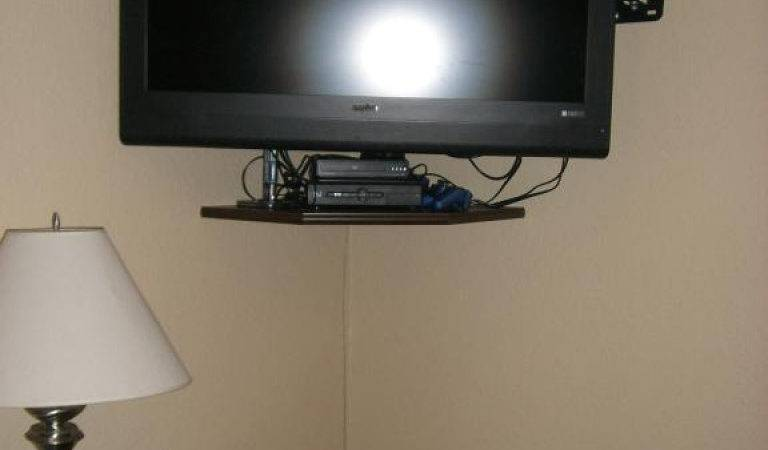 Corner Wall Mount Shelf Cable Box