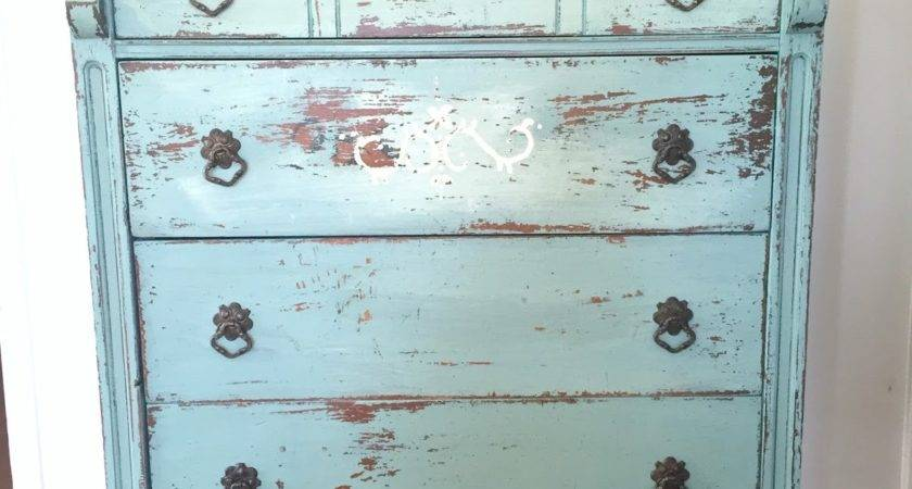 Cottage Design Chippy Milk Painted Dresser