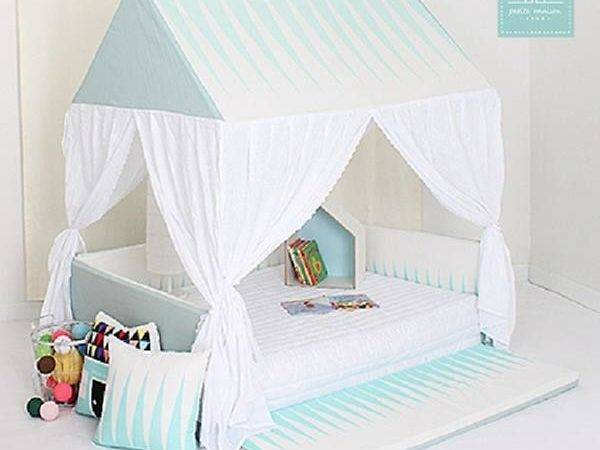 Cotton Baby Bumper Bed House Kids