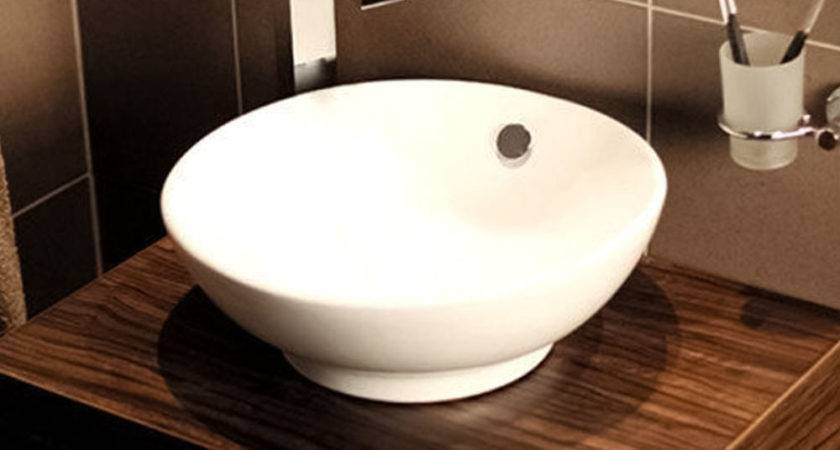 Countertop Circle Basin Modern Sink Bathroom Bowl Tap
