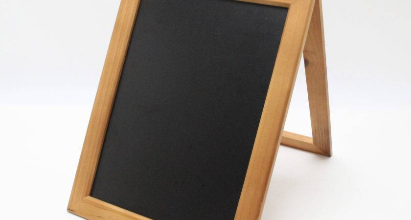 Coutertop Sign Frame Wood Chalkboard Store