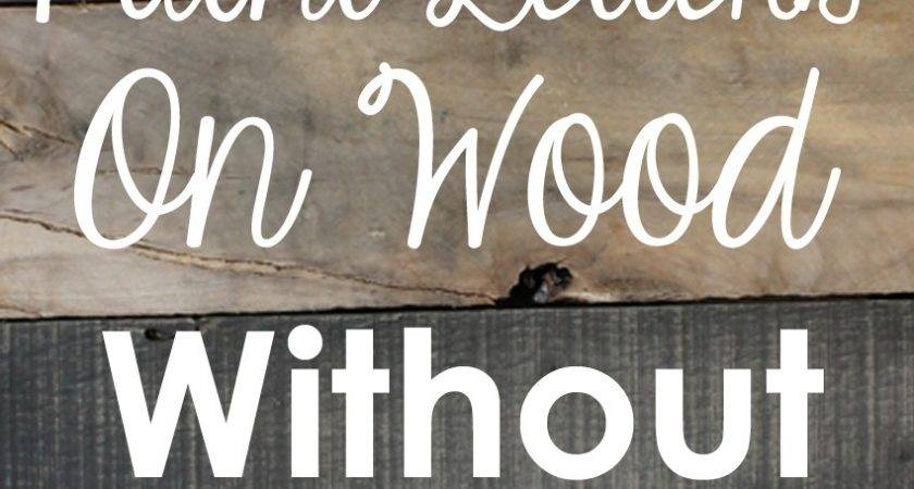 Craftaholics Anonymous Paint Letters Wood