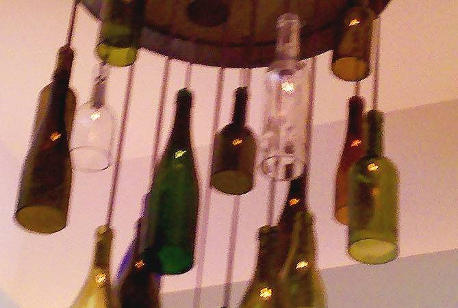 Crafting Style Wine Bottle Light Fixtures