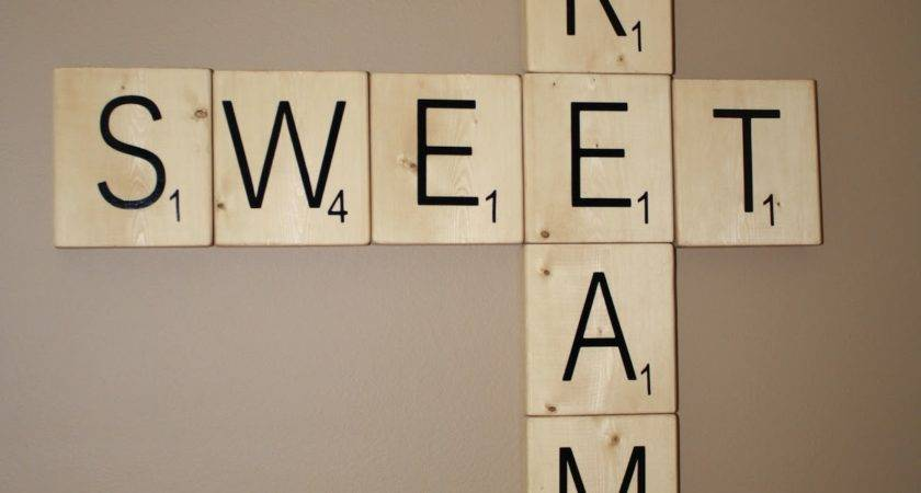 Crafty Chic Mommy Giant Scrabble Tiles Tutorial
