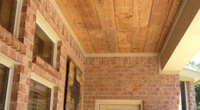 Crafty Texas Girls Build Reclaimed Wood Ceiling