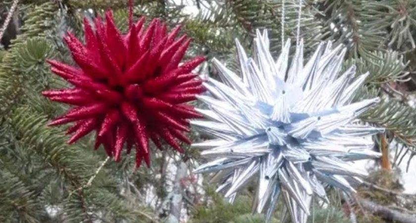 Create Polish Star Christmas Ornaments Out Paper